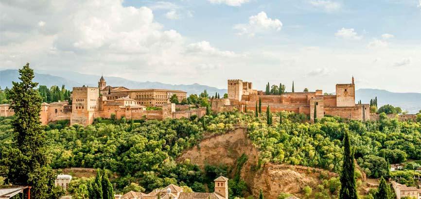 Alhambra paleizencomplex in Granada