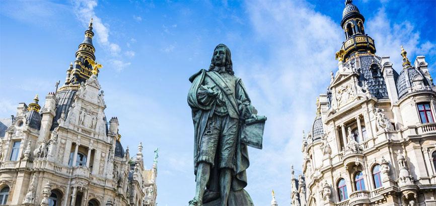 Centrum van de stad Antwerpen