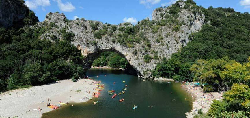 Uitzicht op rivier Ardèche
