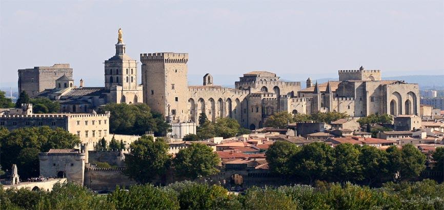 Uitzicht op stad Avignon