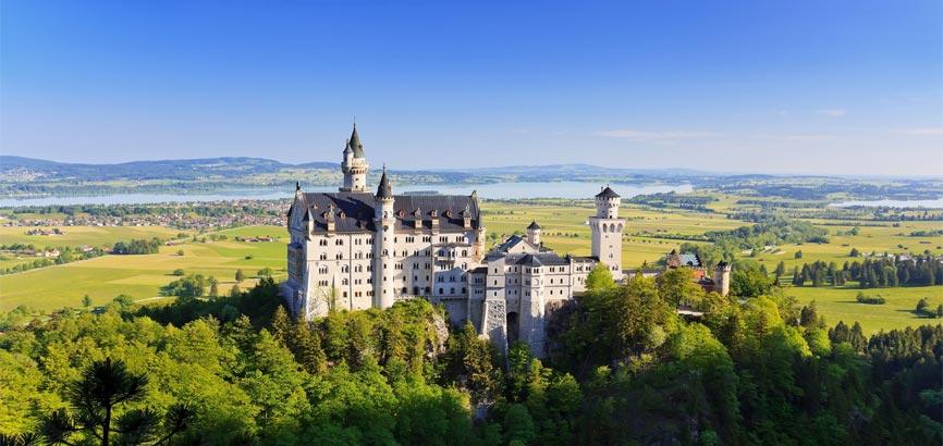 Landschap van Beieren in Duitsland
