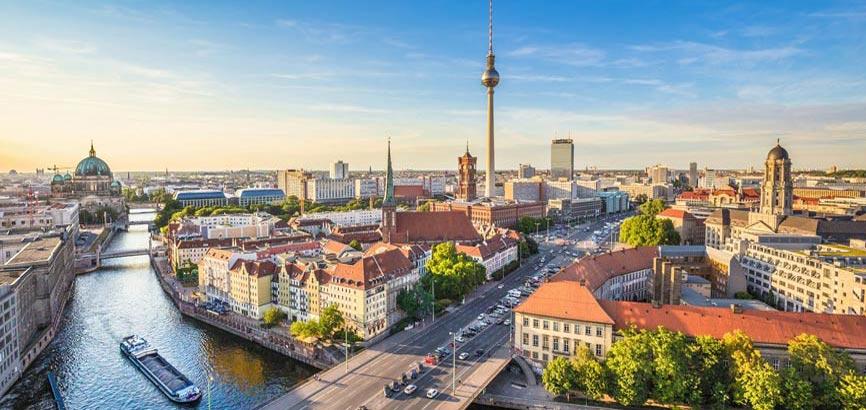 Bovenaanzicht van stad Berlijn