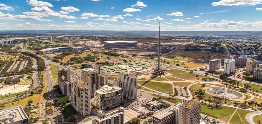 Uitzicht over de stad Brasilia