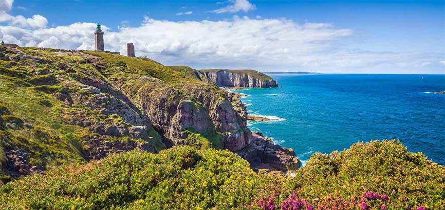 Bretagne aanzicht vanaf strand