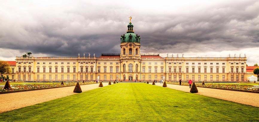 Charlottenburg kasteel vooraanzicht