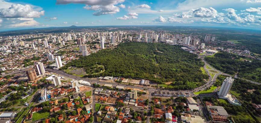 Overzicht van de stad Cuiabá