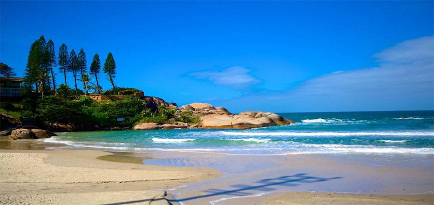 Strand en zee Florianópolis