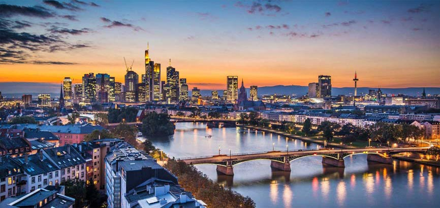 de stad Frankfurt