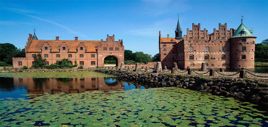 Kasteel Egeskov Slot in Funen - Denemarken