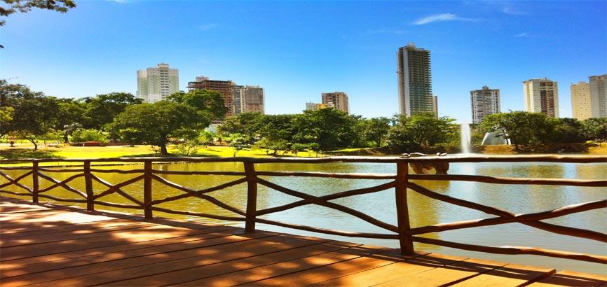 Zijaanzicht over de stad Goiânia