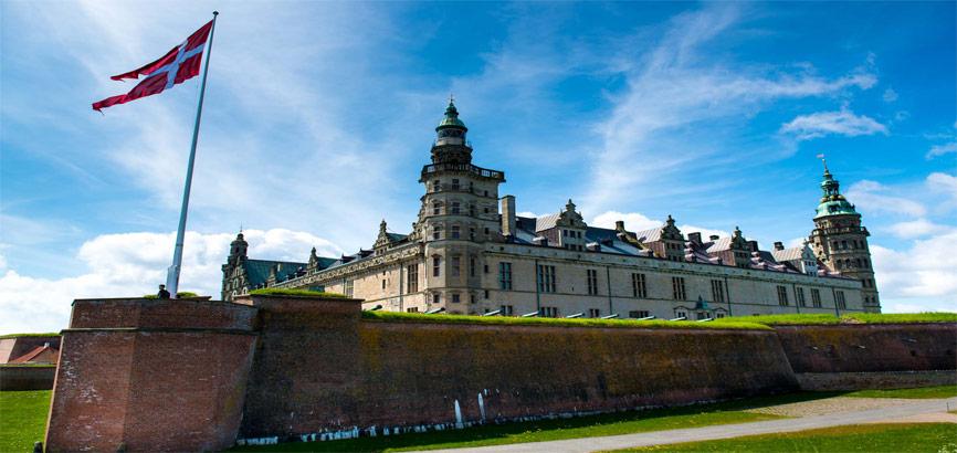 Helsingor Castle in Denemarken