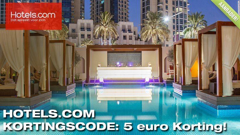 Boek nu met €5,- Korting: Hotels.com Kortingscode!