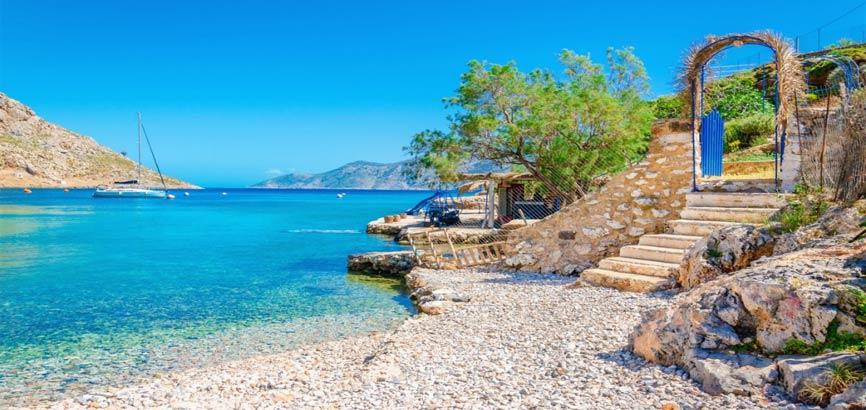 Zeekust van Lesbos