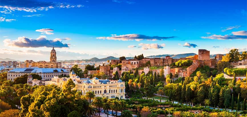 uitzicht over de stad Málaga