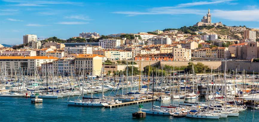 Uitzicht over Marseille vanuit de lucht