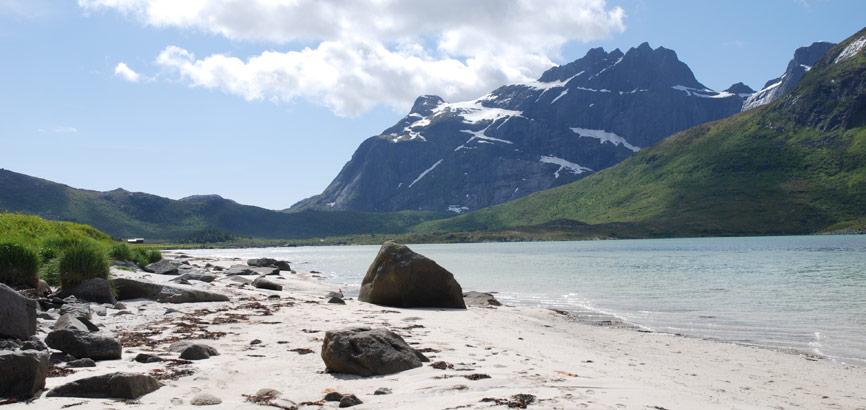 Strand in Midden-Noorwegen