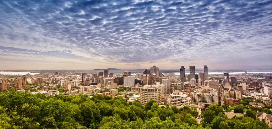 Uitzicht stad Montreal