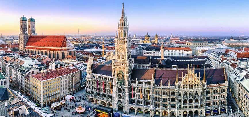 stad München vanaf boven aanzicht