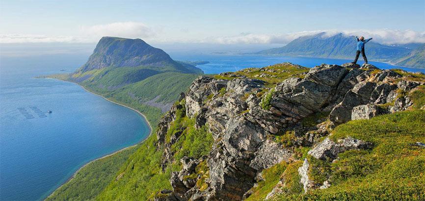 Noord-Noorwegen bergwandeling
