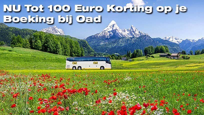NU Tot 100 Euro Korting op je Boeking bij Oad via de Special Sale!