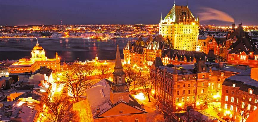 nachtuitzicht van Quebec