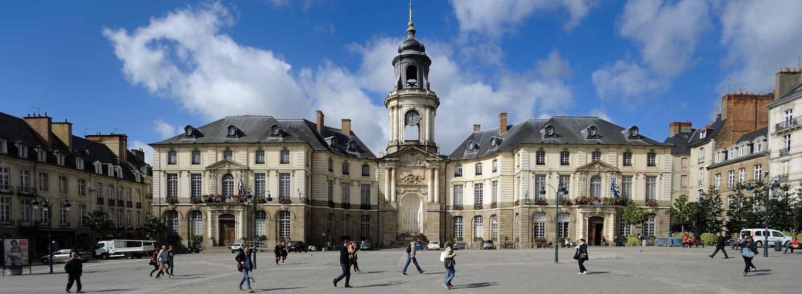 Het centrum van Rennes