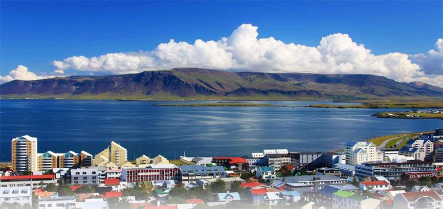 Uitzicht op Reykjavík