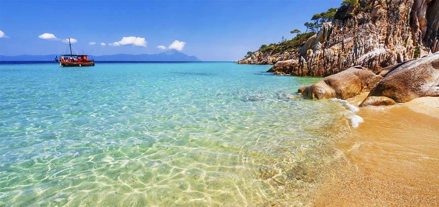 Strand en zee in Rhodos