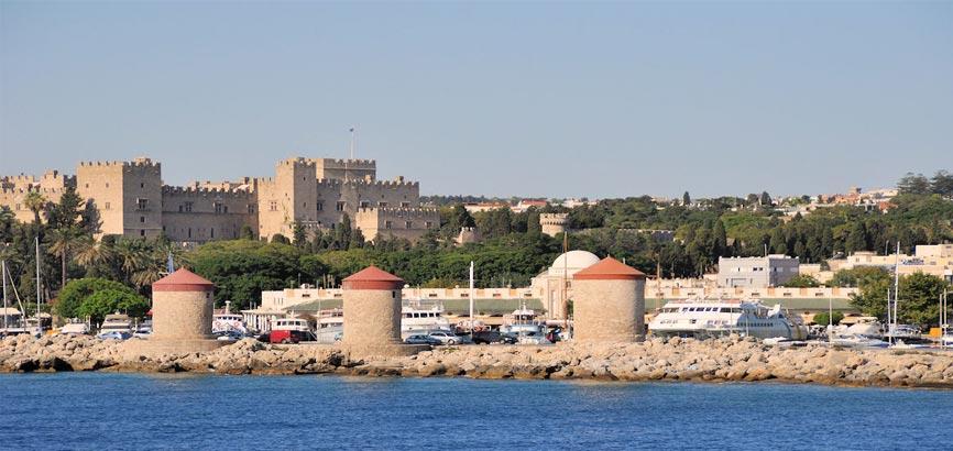 Oude gedeelte Rhodos-stad