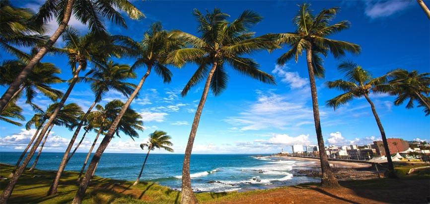 Kust van Salvador de Bahia