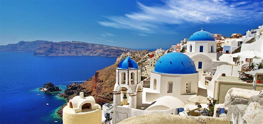 Kust van Santorini