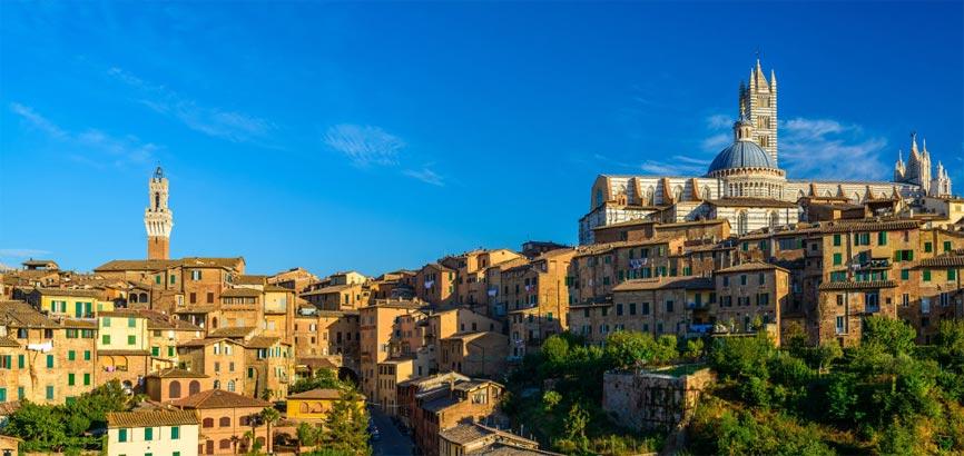 Uitzicht op stad Siena