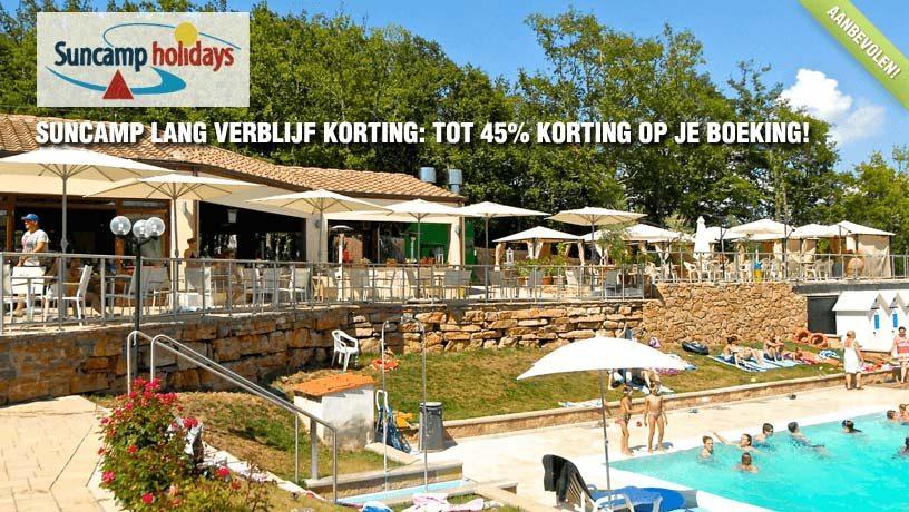 Suncamp Lang Verblijf Korting: Tot 45% Korting op je Boeking!