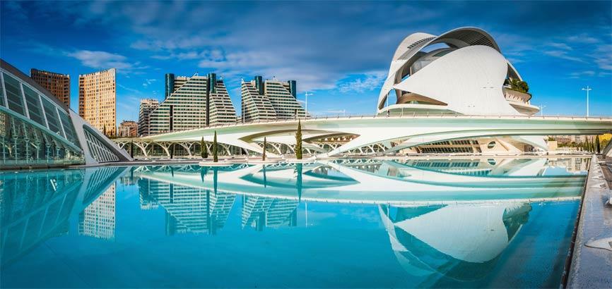 Stadsaanzicht van Valencia