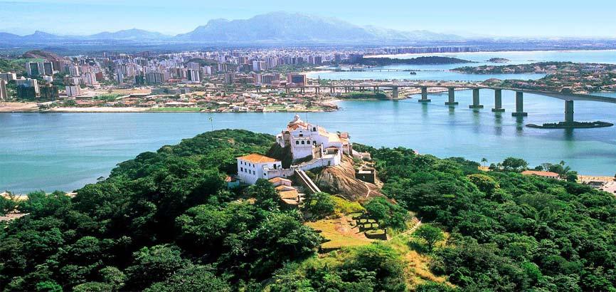 Uitzicht over stad Vila Velha
