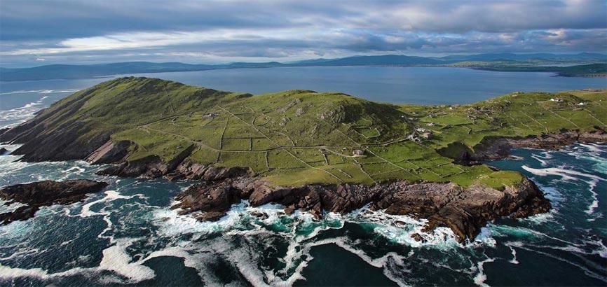 West-Cork en Kerry uitzicht vanaf boven
