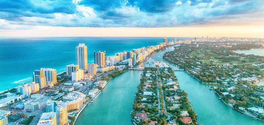 Uitzicht over Florida